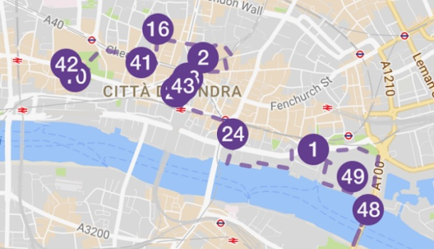 itinerario della app della city di londra
