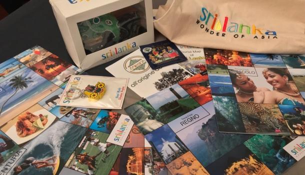 materiale stampa dell'ente turismo dello sri lanka