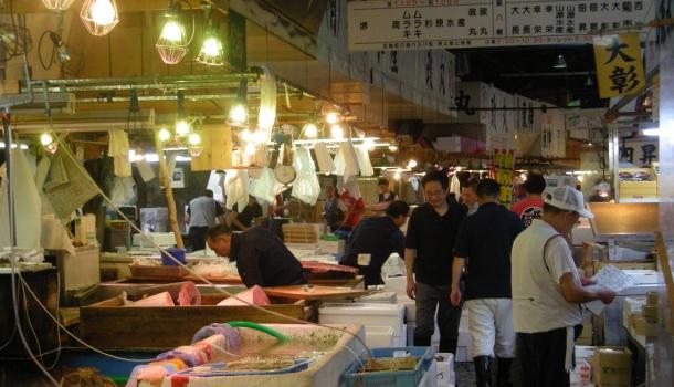 area vendita tsukiji fish market