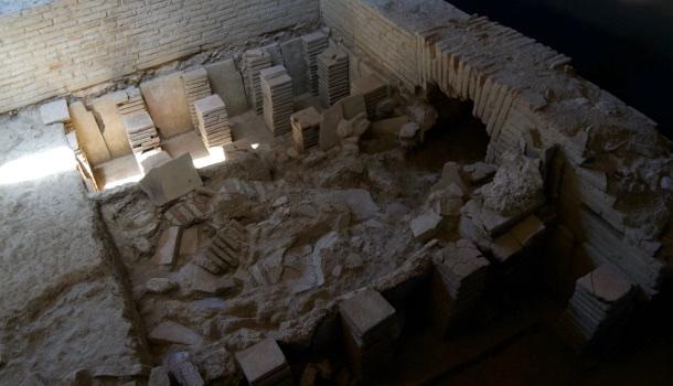 stanza delle terme alla villa dei mosaici