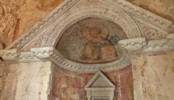 affreschi tempietto del clitunno