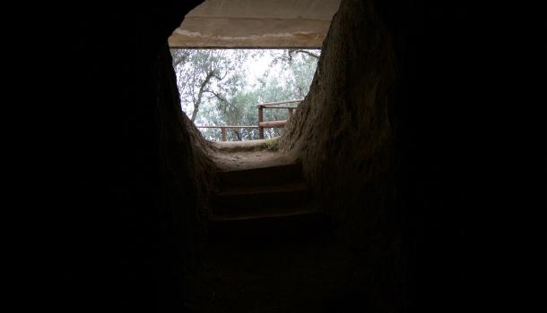 interno tomba necropoli del palazzone
