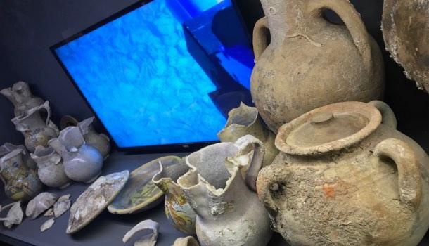 vetrina museo navi antiche di pisa