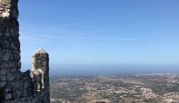 veduta costa portoghese da sintra