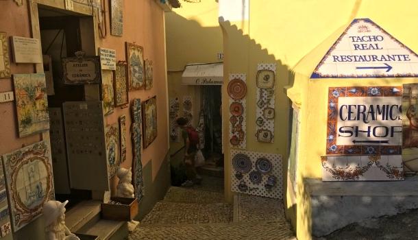 negozi del centro storico di sintra